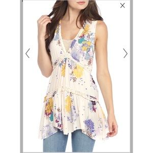 Free people purple haze floral tunic top